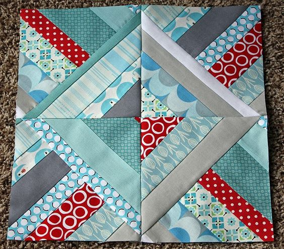 Quilt Block from strings--always fun to play with!