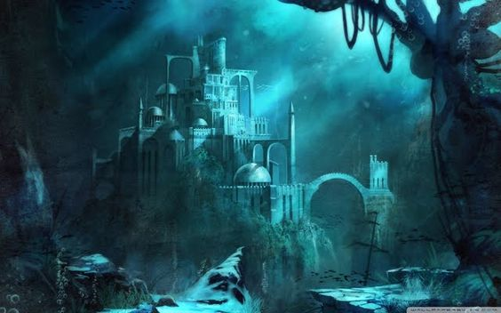 Lost Seraphine Great Representation Of The Sea King S Castle In Aquardia The Home Of The Seraphine Underwater City Underwater Wallpaper Sunken City