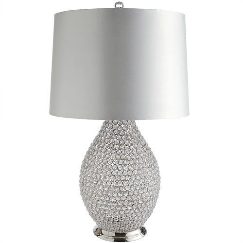 White Crystal Bead Table Lamp Crystal Lamp Beaded Lamps Table Lamp