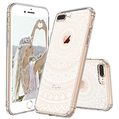 Iphone 8 Plus Case Clear Iphone 8 Plus Case Mosnovo White Henna Mandala Floral Lace Printed Cl Iphone Case Fashion Iphone Case Collection Fashion Phone Cases