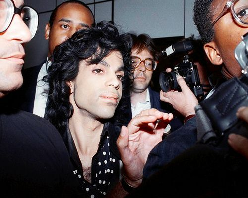 Prince at Heathrow Airport, 1988: