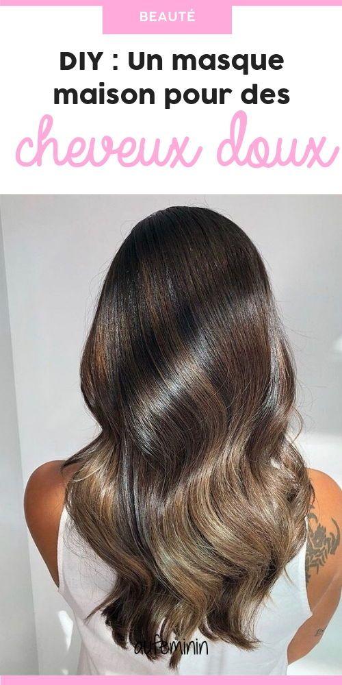 Diy Un Masque Maison Simplissime Pour Des Cheveux Extra Doux Masque Cheveux Coiffure Faitmaison Diy Naturel Masque Cheveux Cheveux Doux Astuce Cheveux