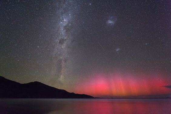 Rare photo of aurora australis – southern lights – and bioluminescence. Photo by Colin Legg