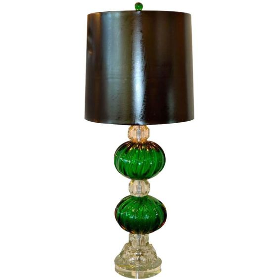 1940s seguso emerald green murano glass lamp lamps modern and tables for sale on this knock out lamp has been completely rebuilt and rewired using vintage seguso pulegoso murano glass emerald green balls the size of keyboard keysfo Image collections