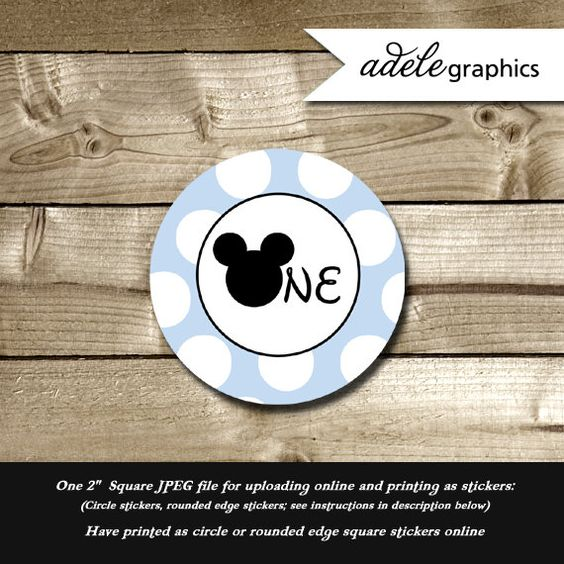 INSTANT DOWNLOAD  Mickey Mouse Inspired 'One' by AdeleGraphics, $2.50