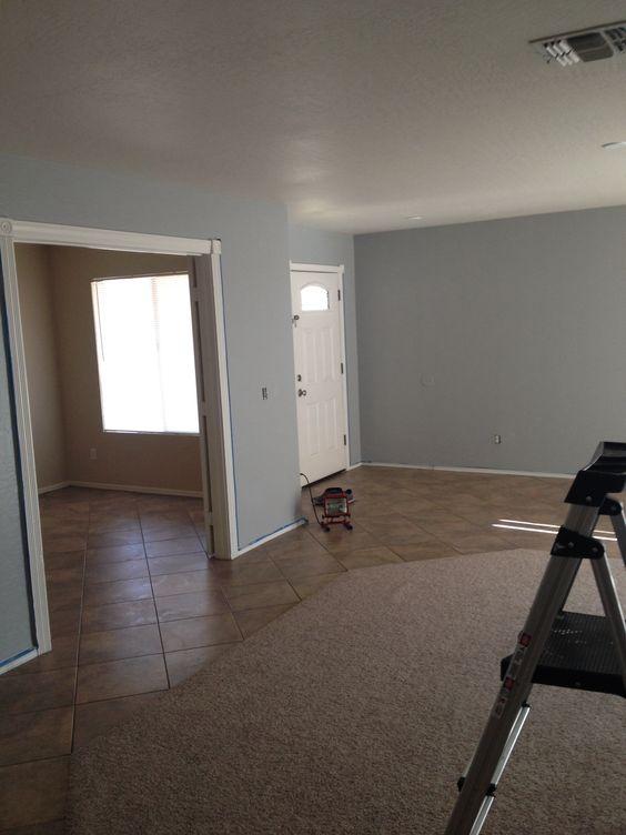 Valspar    Urban Sunrise  blue gray paint color in living room   Living  room   Pinterest   Blue gray paint  Gray paint colors and Blue grey. Valspar    Urban Sunrise  blue gray paint color in living room