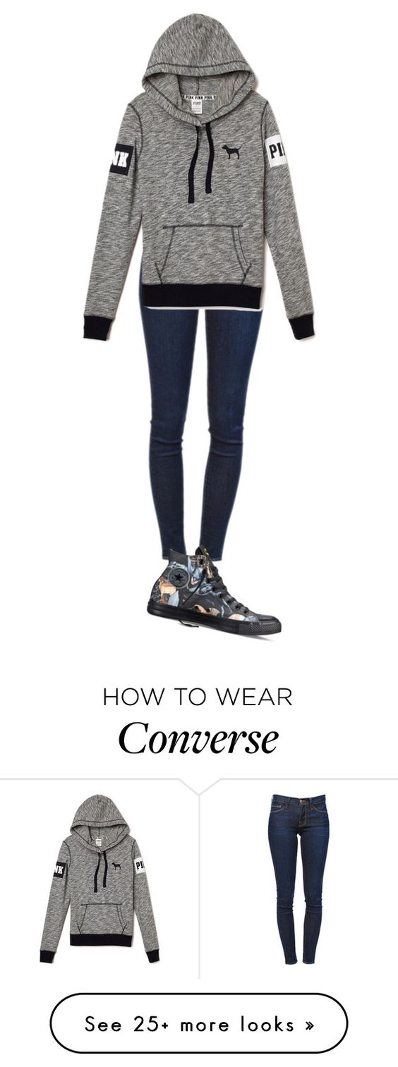 """""""Simply Simple"""" by musicgirl5317 on Polyvore featuring Frame Denim and Converse"""