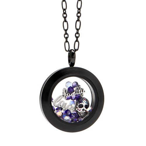 Festividad Dia de los Muertos - ONE CLICK to purchase this Origami Owl Locket and pieces as shown | StoriedCharms.origamiowl.com