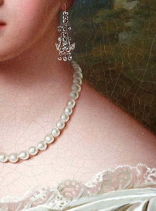 Femme avec collier de perles (Détail) Fredrik Westin (1782/1862)