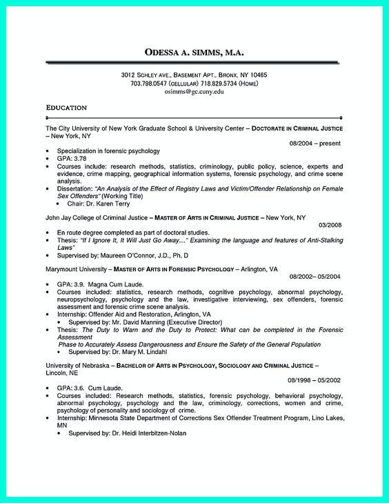 Psychology Therapist Resume Clinical Psychology Resume Templates