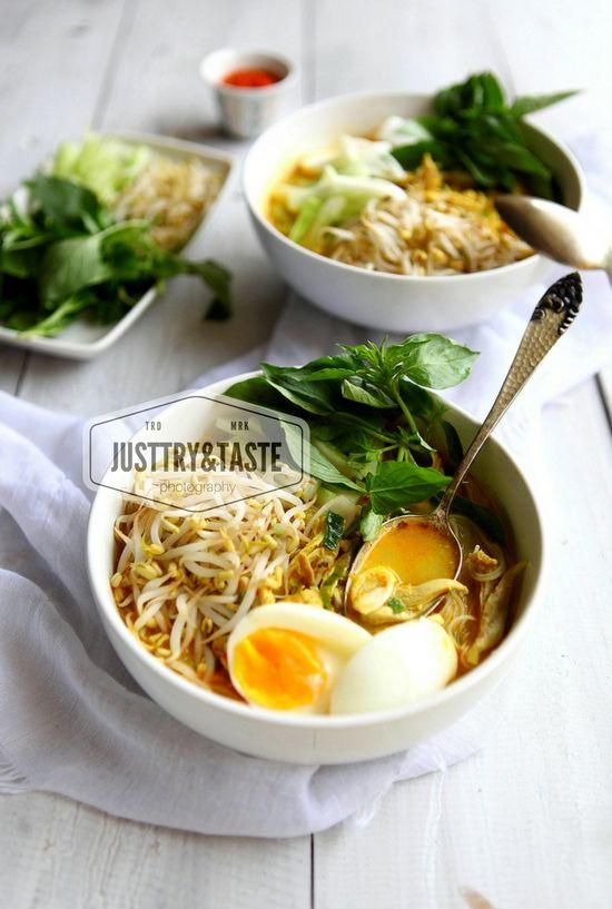 Laksa Ayam Betawi Indonesian Betawinese Laksa Resep Masakan Pedas Resep Masakan Indonesia Resep Masakan