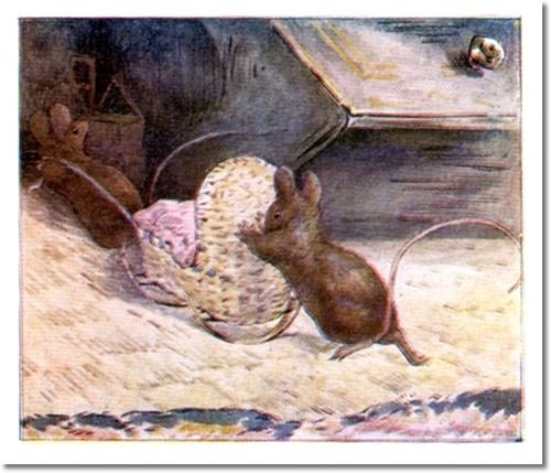 The Tale of Two Bad Mice - 1904 - Hunca Munca Pushes Cradle