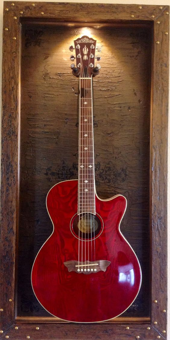 Guitar Display Case Quot Bound In Leather Quot Shadow Box Guitar