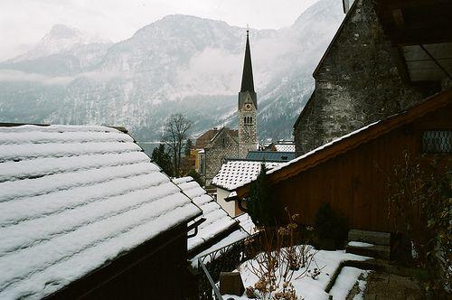 Snowy Mountain Town