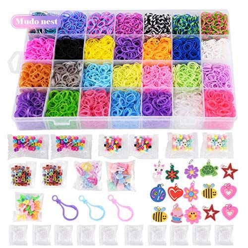 Rubber Loom Bands Bracelet Refill Kids Rainbow Craft Clip Hair Accessories New