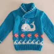 Whale, Waves and Fish Jumper 4-5 years - via @Craftsy
