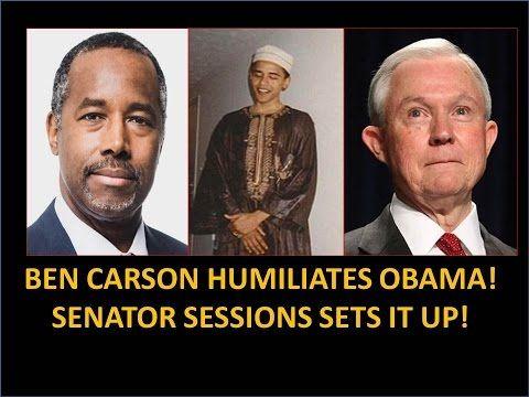 Ben Carson Humiliates Obama! Senator Sessions Set It Up! Hindsight Explains A Lot! - YouTube