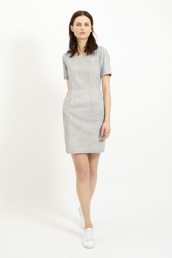 People Tree | Felicia Pocket Dress in Grey