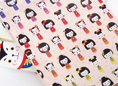 free download--kokeshi pattern paper