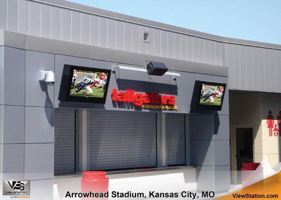 Arrowhead Stadium Kansas City MO - Outdoor Digital Signage ViewStation by ITSENCLOSURES #ViewStation
