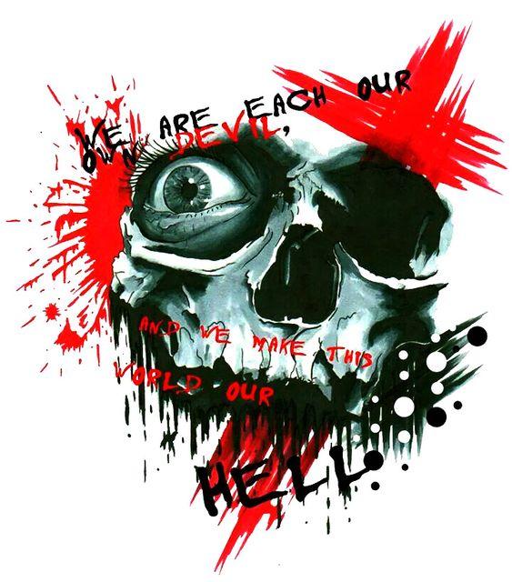 Trash Polka Skull By Mcrdesign On Deviantart: Trash-polka-tattoo-designs-skull-nice