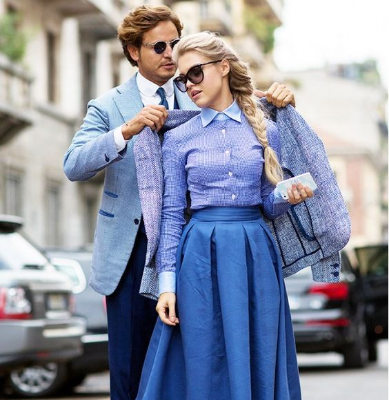 Classic ladylike and gentlemanly street style during Milan Fashion Week // Photo: The Styleograph #MFW #streetstyle