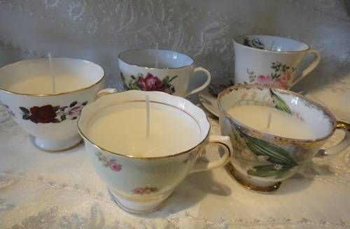 Teacup Candles - HOME SWEET HOME | Reusing, Recycling and Recrafting ...
