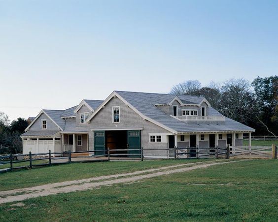 House With Attached Barn Plans House Style Ideas