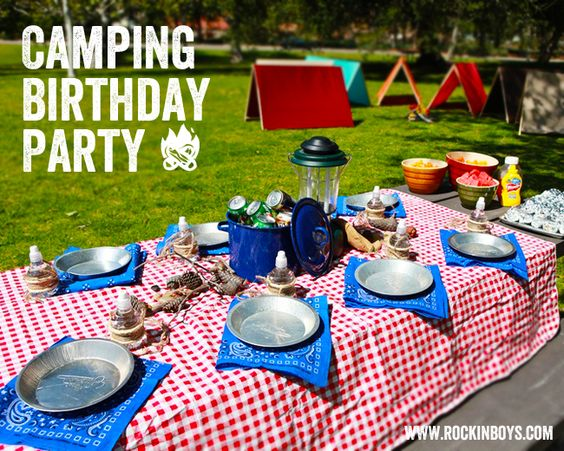 Boys Camping Parties We Adore