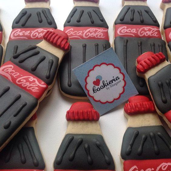 So cute!  Coca~Cola Cookies <3  #ShareACokeContest