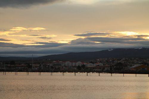 Atardecer en Punta Arenas, Chile