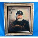 oil painting by Kim Benson   Image 1 Original KIM BENSON Ship Captain AHAB Oil Painting Art: