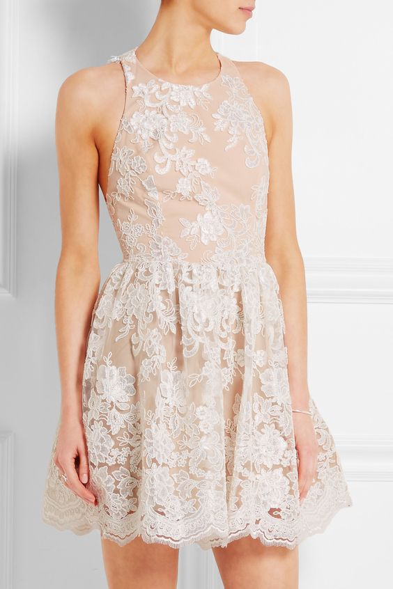Alice + Olivia | Ladonna silk-embroidered tulle mini dress | NET-A-PORTER.COM