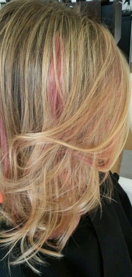 Mechas pink:
