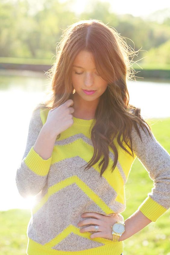 madewell sweater- neon: