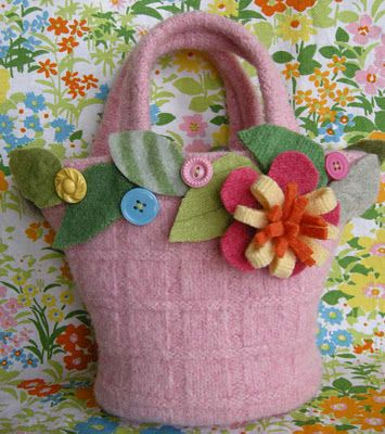 recycled sweater tote