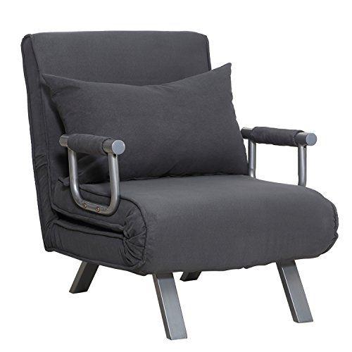 Homcom Fauteuil Chauffeuse Canape Lit Convertible 1 Place Dehoussable Grand Confort Coussin Pieds Accoudoirs Metal Suede Canape Lit Convertible Canape Lit Fauteuil Tendance