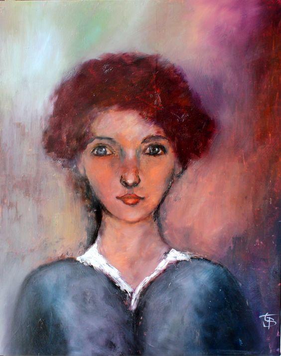 portrait Lucía, huile 50 x 62