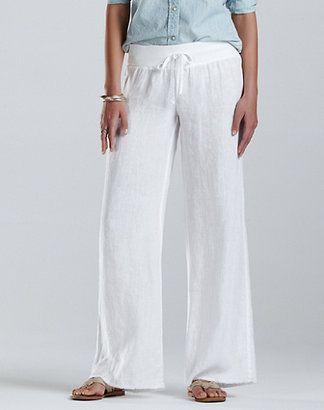 ShopStyle: Wide Leg Drawstring Pants