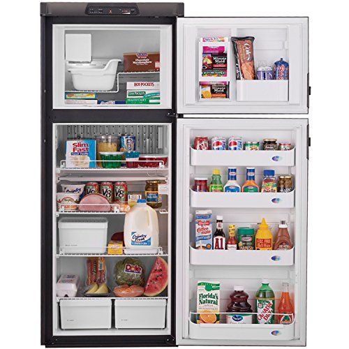 Discounted Dometic Dm2852rb Americana Double Door Rv Refrigerator 2 Way 8 Cubic Ft Double Doors Rv Refrigerator Adjustable Shelving