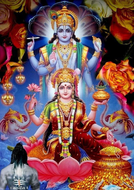 Lakshmi Is Considered Another Aspect Of The Same Supreme Goddess Principle In The Shaktism Tradition Of Hinduism Vishnu Lord Krishna Images Lord Vishnu