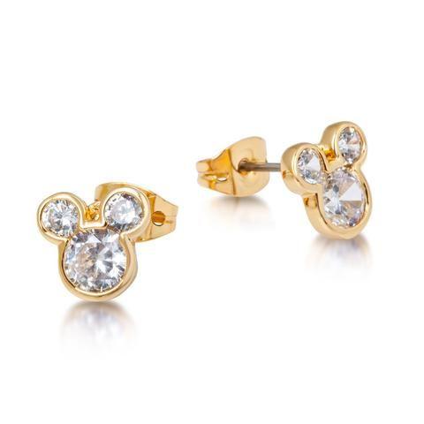 Crystal Mickey Mouse Head Stud Earrings - Disney Jewellery