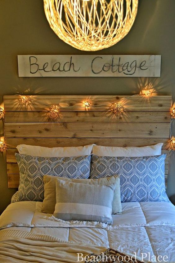 String Lights Headboard Diy : String lights, Light string and Tutorials on Pinterest