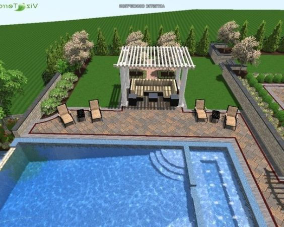 Free pool house plans pool deck design software free for Free garage design software