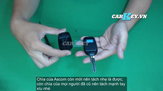 Thay vỏ chìa khóa ô tô Captiva - Carkey.vn