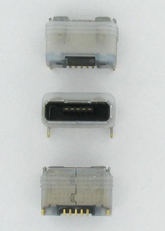 IP67 waterproof Micro USB connector - used for handheld devices, body worn electronics, any device that requires a USB charger port and must be watertight
