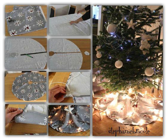 DIY un tapis de sapin de Noël en tissu et lumineux !