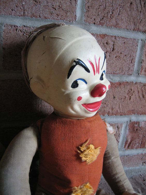 old clown doll by TheLittleG on Etsy   Scary Old Dolls ...