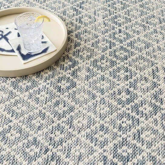 Melange Diamond Blue Woven Cotton Rug Dash Albert In 2020 Cotton Rug Rugs On Carpet Rugs