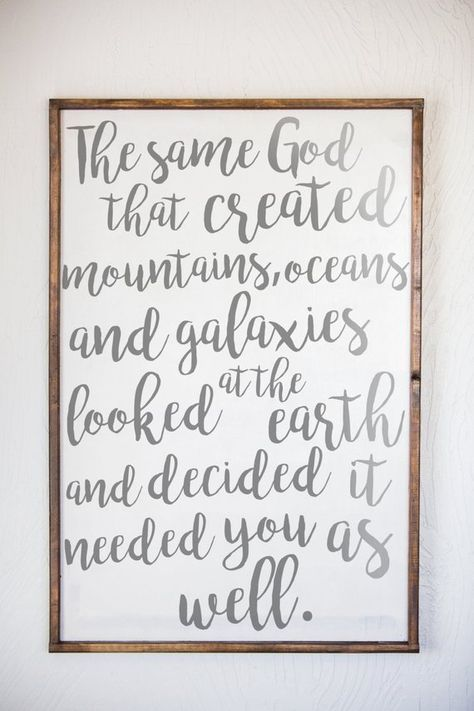 The Same God That Created Mountains Oceans and Galaxies, Creation, Wall Art, Hand-crafted Signs, Hom